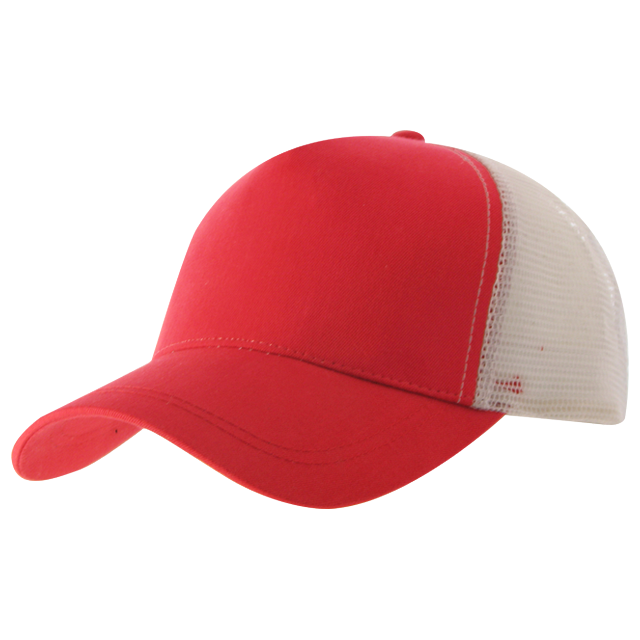 Fabric construction:  – Cotton Twill Front Panel  – Weight: 108×58  – 185 GSM  – 5 Panel  – Nylon mesh back panels  – Poly Snap back enclosure  – Pre-curved peak Colours: Red/White (pictured), Royal/White, Navy/White, Black/White, Black/Black