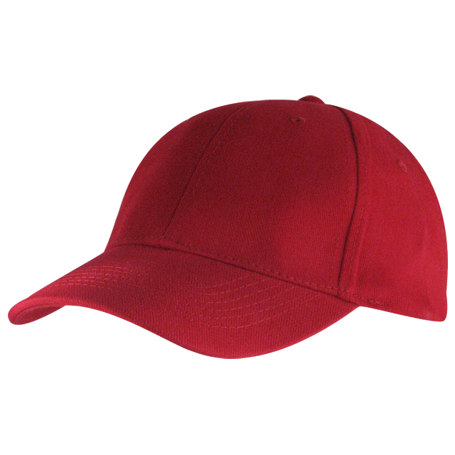Fabric construction:  – 270 GSM,  – Heavy Brushed Cotton Twill  – 4 Needle Stitch Twill Sweatband  – Pre-Curved Peak  – Embroidered Self Colour Eyelets  – Self – Fabric Velcro Strap  – 6 Panel Structured Colours: White, Pink, Red (pictured), Sky, Royal, Navy, Bottle, Stone, Chocolate, Black