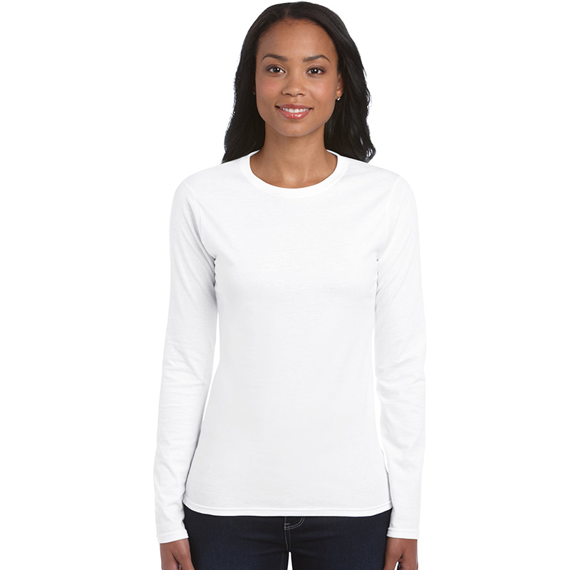 Fabric: – 100% ring spun cotton preshrunk jersey knit Weight: – 153 g/m2 (144 g/m2 in White) Sizes: – S, M, L, XL, 2XL, 3XL  – 100% ring spun cotton preshrunk jersey knit (see colours for exceptions) – Fitted silhouette with side seam – Seamless double needle 1.3 cm collar – Taped neck and shoulders – Tearaway label – Double needle sleeve and bottom hems