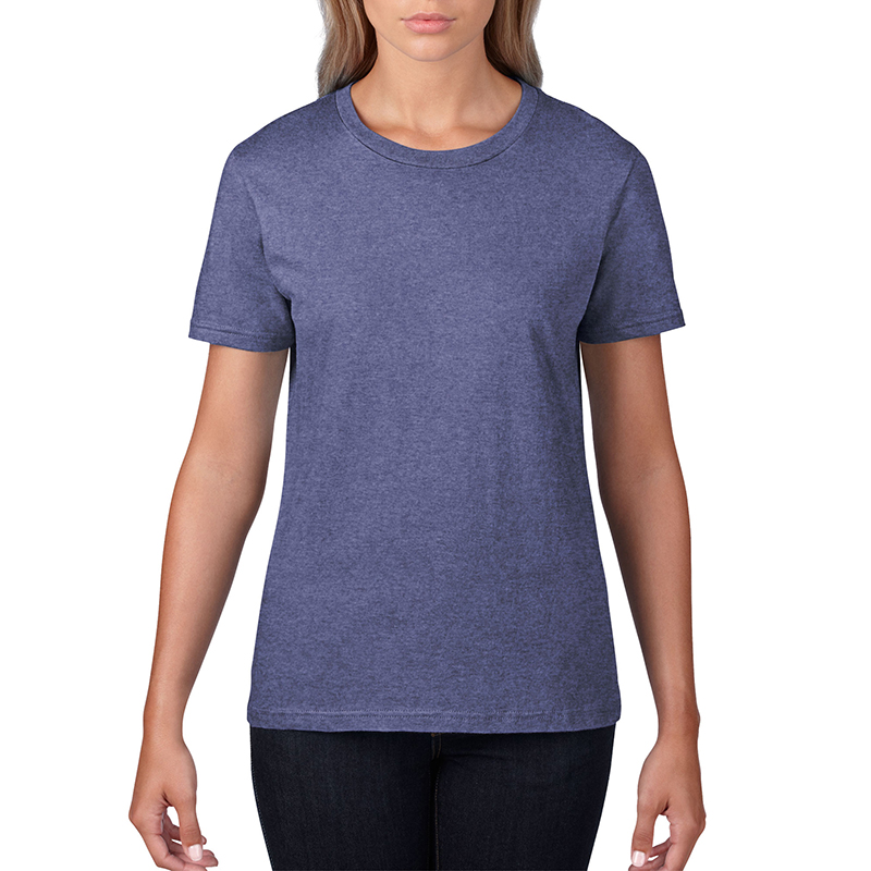– 150 g/m2 Pre-shrunk 100% ring spun cotton,Heather Grey is 90% combed ring spun cotton/10% polyester, Heather Colours are 65% polyester/35% combed ring spun cotton – Fabric 30/1 – Semi-fitted contoured silhouette with side seam – Shoulder-to-shoulder tape and seamed collar – Double-needle sleeve and bottom hem – TearAway label – Oeko-Tex¨ Standard 100 Certified – Companion Style: 980 – Available Sizes: LS-L2XL – 16 Colours: white, navy, black, royal blue, heather purple, charitypink, green apple, caribbean blue, mandarin orange, spring yellow, heather blue, purple, heather dark grey, red, smoke, heather grey