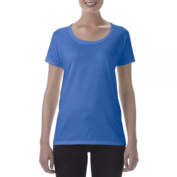 Fit – Semi-Fitted  Fabric – 153 g/m², 100% Ring Spun Cotton  Sizes – S M L XL 2XL 3XL  Details: – Preshrunk jersey knit – High stitch density for smoother printing surface – Semi-fitted contoured silhouette with side seam – Seamless double-needle 1.3cm collar – Deep scoop neckline – Taped neck and shoulders – Tear away label – Cap sleeves – Double-needle sleeve and bottom hems – Fibre content varies by colour, see colour list for exceptions